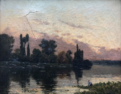 Hippolyte Camille DELPY - Pittura - Paysage