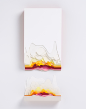 Maud VANTOURS - Drawing-Watercolor - Montagne Orange