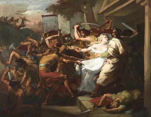 François DUBOIS - Pintura - Les retrouvailles de Ménélas et d'Hélène à Troie