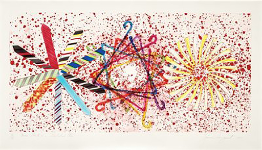 James ROSENQUIST - Grabado - More Points on a Bachelor's Tie