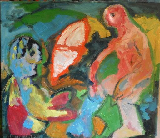 Bernard MOREL - Painting - LA  BARQUE