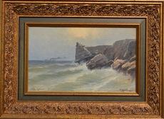 Mikhail ALISOV - Painting - Lastochkino gnezdo, Crimean view