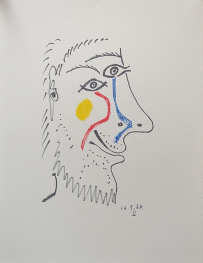 巴勃罗•毕加索 - 版画 - Le Gout de Bonheur 16.5.64 V