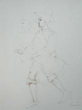 Leonor FINI - Dibujo Acuarela - The Dance