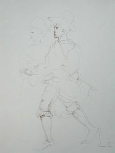 Leonor FINI - Drawing-Watercolor - The Dance