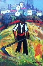 Henri AUTRAN - Pittura - LA FENAISON