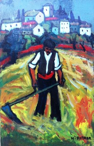 Henri AUTRAN - Painting - LA FENAISON