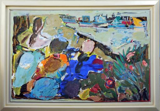 Jean-Pierre CHEVASSUS-AGNES - Painting - les 3 parques