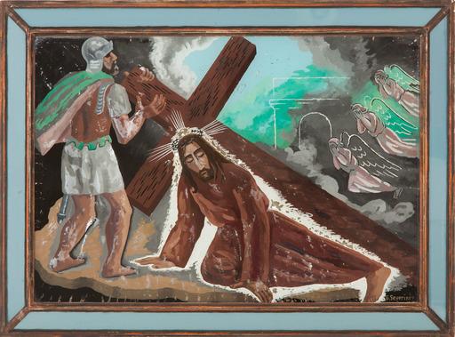 Gino SEVERINI - Painting - SALITA AL CALVARIO