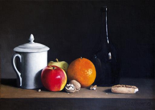 Bernard LONDINSKY - Pintura - Fruits et biscuits