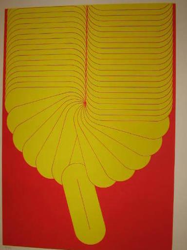 Sato ADO - Grabado - Composition jaune,1982