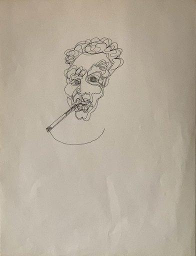 Jean-Michel BASQUIAT - Disegno Acquarello - Samo Drawing