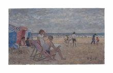 François GALL - Pintura - Plage de Trouville