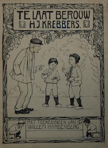 Willem HARDENBERG - Dibujo Acuarela - Te laat berouw