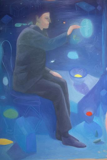 Pino DEODATO - Painting - Caspar viola d'indathrene