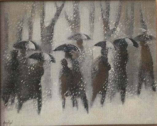 Manolo RUIZ PIPO - Peinture - Paysage de neige