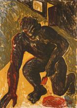 Miquel BARCELO (1957) - Peintre agenouille