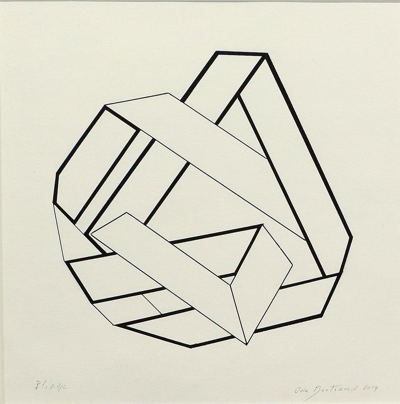 Ode BERTRAND - Drawing-Watercolor - Pliage II A1