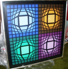Victor VASARELY - Painting - Lain