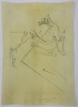 Salvador DALI (1904-1989) - Le Soleil couchant allonge le squelette noir d'un grand...