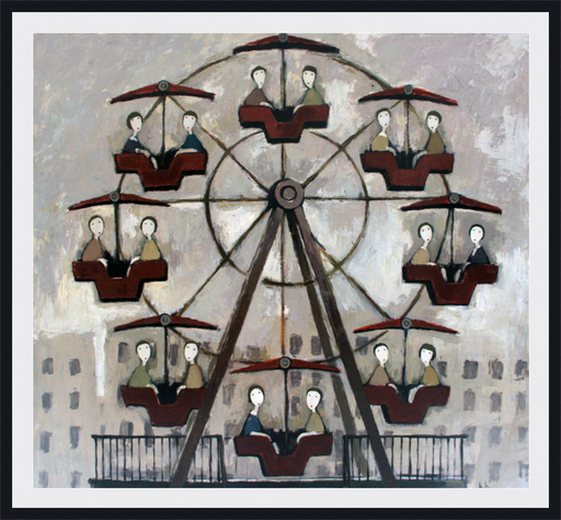 Ramaz ROSTOMASHVILI - Gemälde - Ferris wheel