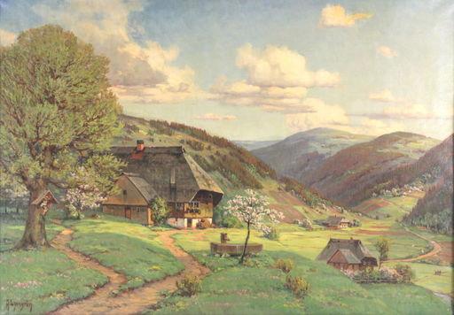 Arnold LYONGRÜN - Peinture - Frühling im Schwarzwald