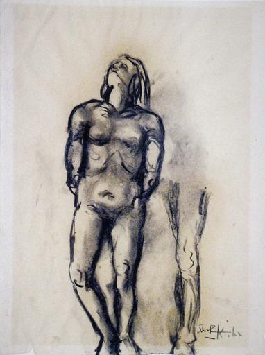 Ibrahim KODRA - Drawing-Watercolor - Studio sul corpo umano
