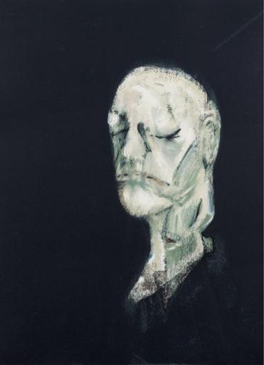 Francis BACON - Grabado - Masque Mortuaire de William Blake
