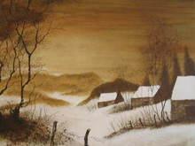 Bernard CHAROY - Stampa Multiplo - Paysage d'hiver,1980.