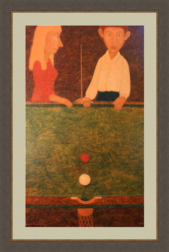 Roman ANTONOV - Painting - Billiard