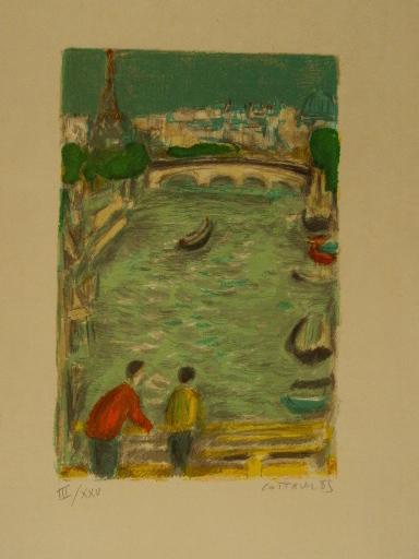 アンドレ・コタボ - 版画 - Paris,La Tour Eiffel,1985.