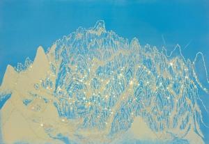 Jongsook KIM - Painting - ARTIFICIAL LANDSCAPE- Mountain Emerald