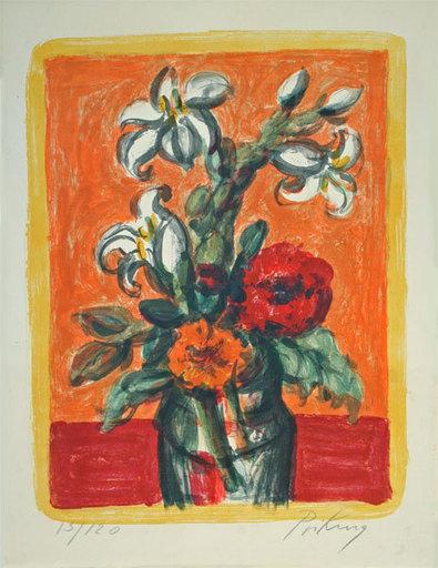Franz PRIKING - Stampa-Multiplo - Bouquet de fleurs