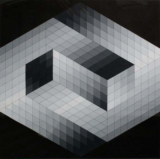 Victor VASARELY - Grabado - Gestalt 8