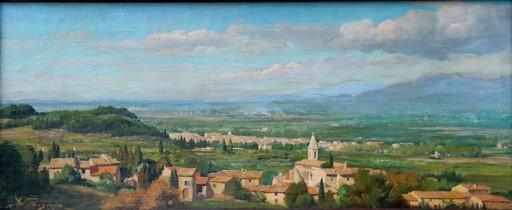 """Adolphe FAUGERON - Painting - """"PAYSAGE DE L'AVEYRON"""""""
