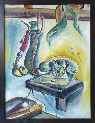 Anatol HERZFELD - Pittura - Pfeife und Telefon