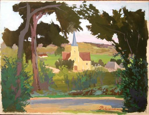 Gustave PATRIARCHE - Dibujo Acuarela - ENVIRONS DE TROUVILLE