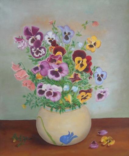 Fabienne DELORD-DESCOURVIERES - Peinture - Pensées à la Grand-Mère