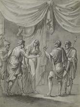 "Jacob SCHILCHER - Drawing-Watercolor - ""Antique Scene"" by Jakob Schilcher, ca 1800"
