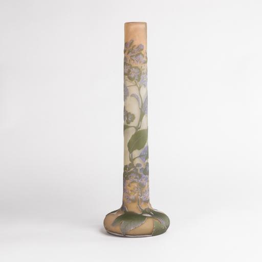 艾米里·加利 - Emile Gallé (1846-1904), grand vase aux hortensias, XIXe