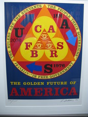 Robert INDIANA - Grabado - Golden Age of the Future