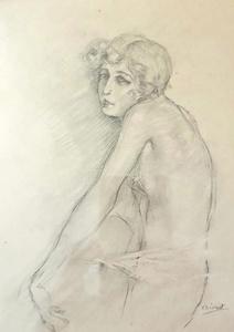 Edouard Jules CHIMOT - Drawing-Watercolor - Young Women -4 drawings
