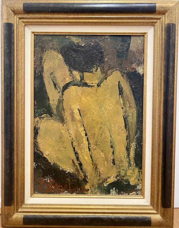 Germain BONEL - Peinture - Dos