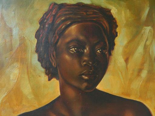 Madeleine LEFEBVRE - Pintura - AFRIQUE - FEMME - WOMAN