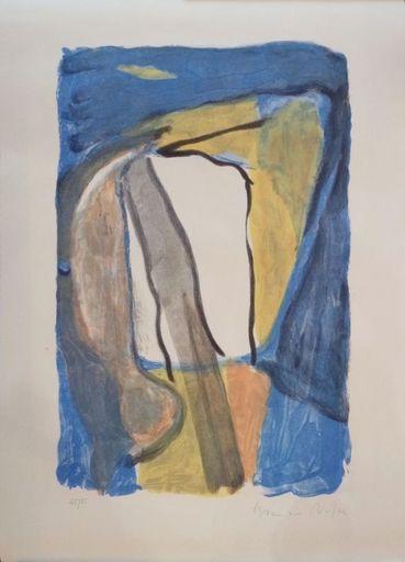 Abraham Gerardus VAN VELDE - Print-Multiple - Composition bleue jaune