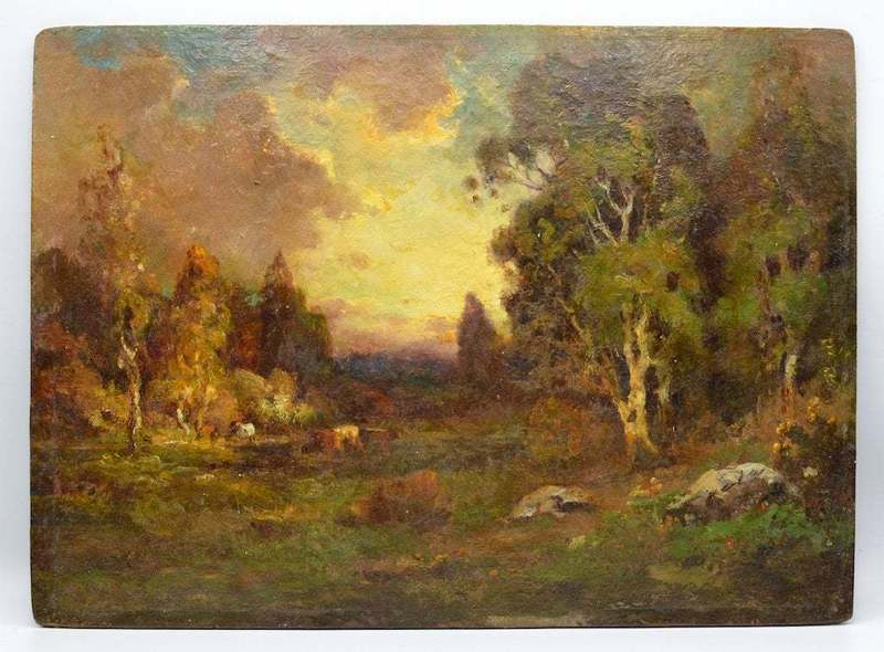 Alexis Matthew PODCHERNIKOFF - Painting - Landscape with a boat