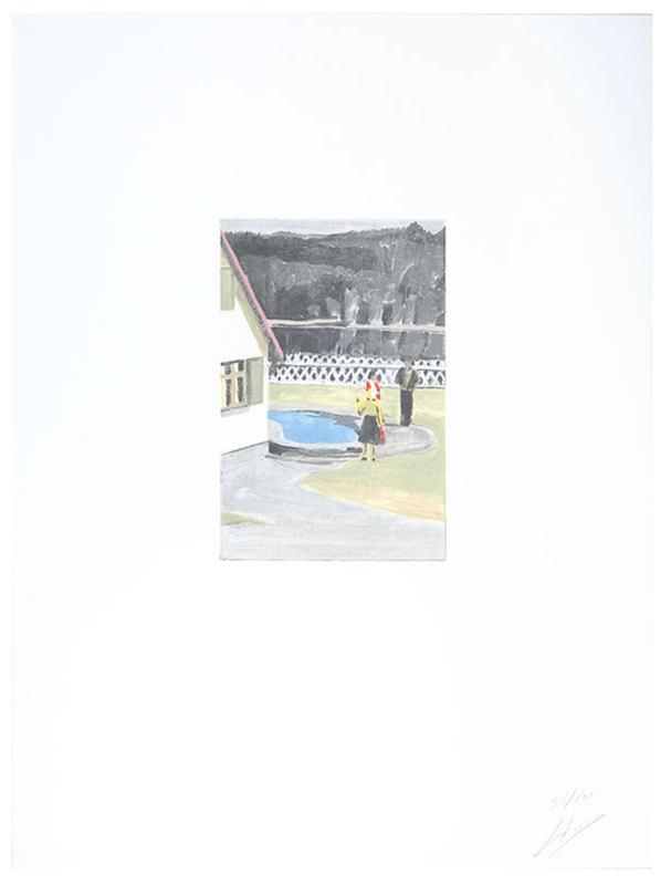 吕克•图伊曼斯 - 版画 - Suspended