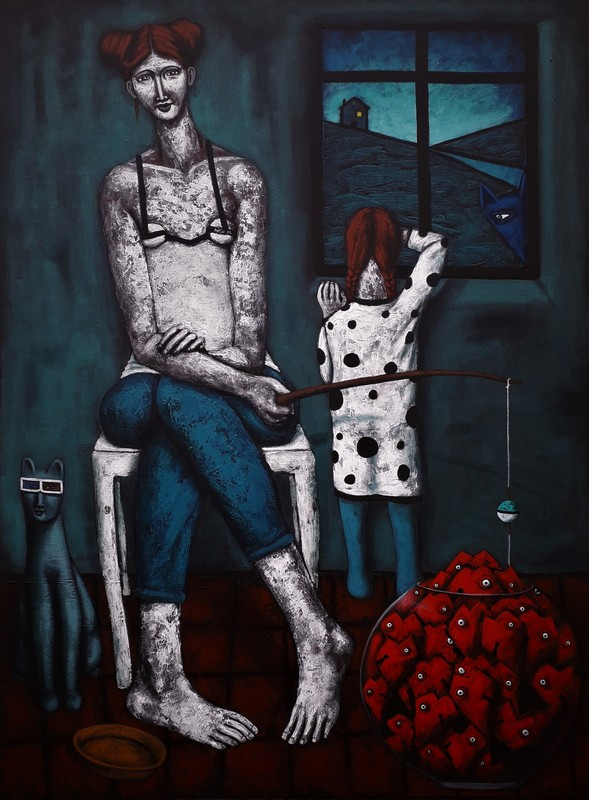Nicolas MONJO - Painting - Sans titre 7.0.8