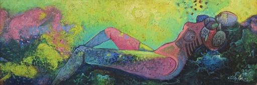 Vladimir CORA - Painting - Reposo en las rocas