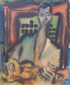 SEVEK, Etude du portrait de Django Reinhardt
